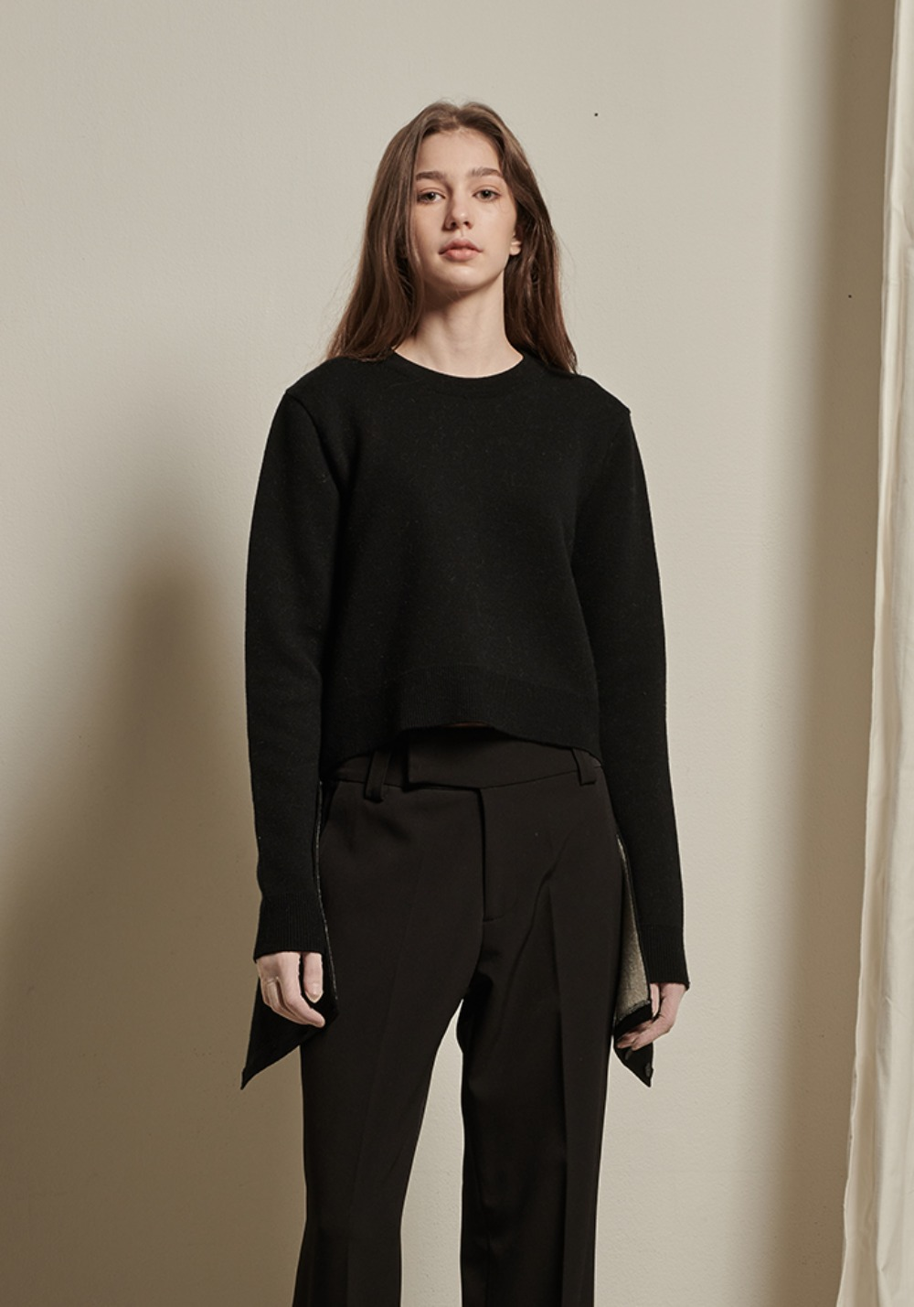 Frankie Knit Top _ Black
